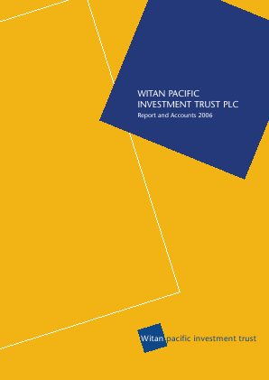 Witan Pacific Investment Trust annual report 2006