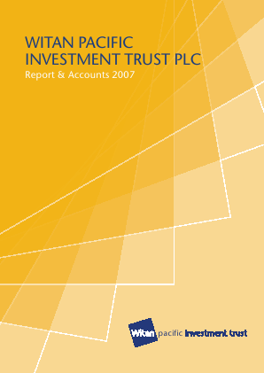 Witan Pacific Investment Trust annual report 2007