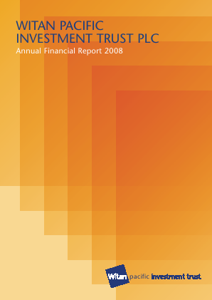 Witan Pacific Investment Trust annual report 2008