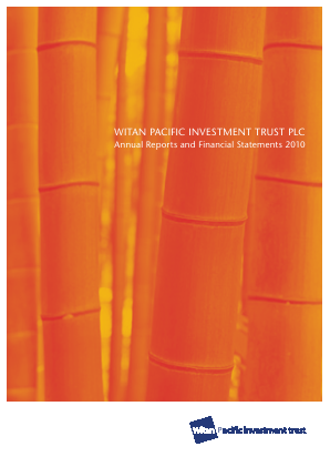 Witan Pacific Investment Trust annual report 2010