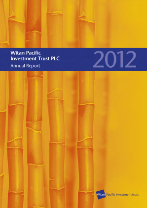 Witan Pacific Investment Trust annual report 2012