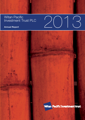 Witan Pacific Investment Trust annual report 2013