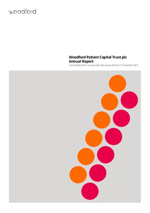 Woodford Patient Capital Trust Plc annual report 2015