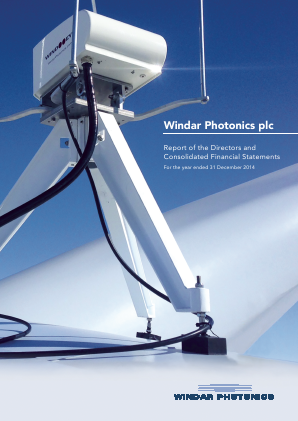 Windar Photonics Plc annual report 2014