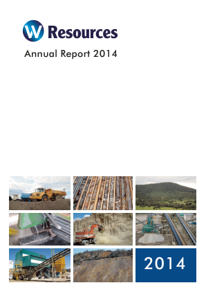 W Resources Plc annual report 2014