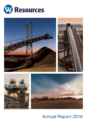 W Resources Plc annual report 2016