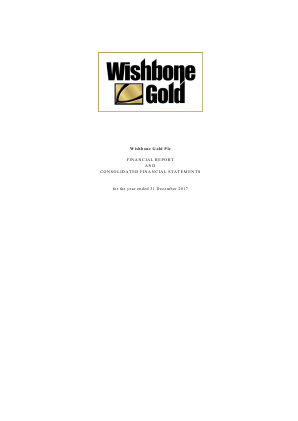 Wishbone Gold Plc annual report 2017