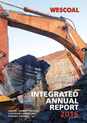 Wescoal Holdings annual report 2016