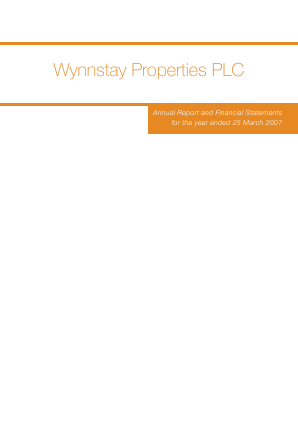 Wynnstay Properties annual report 2007
