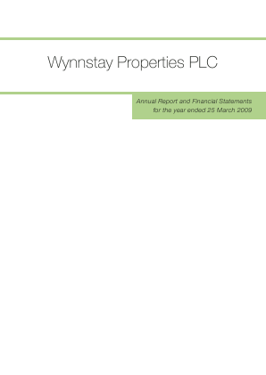 Wynnstay Properties annual report 2009