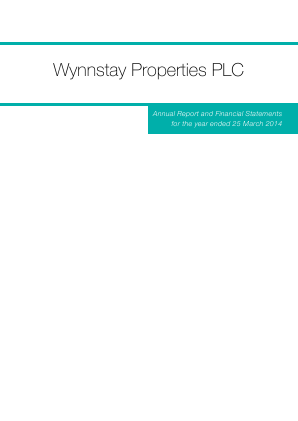 Wynnstay Properties annual report 2014