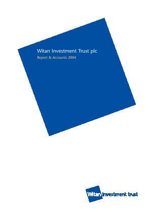 Witan Investment Trust annual report 2004
