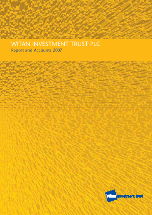 Witan Investment Trust annual report 2007