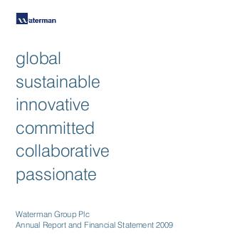 Waterman Group Plc annual report 2009