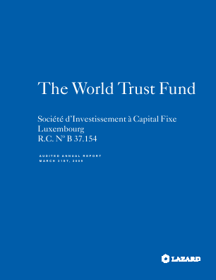 Lazard World Trust Fund (Formally World Trust Fund) annual report 2009