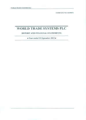 World Trade Systems annual report 2012