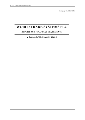 World Trade Systems annual report 2013