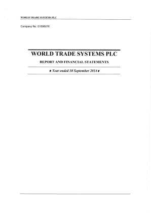 World Trade Systems annual report 2014