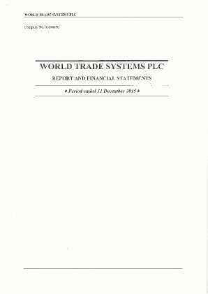World Trade Systems annual report 2015