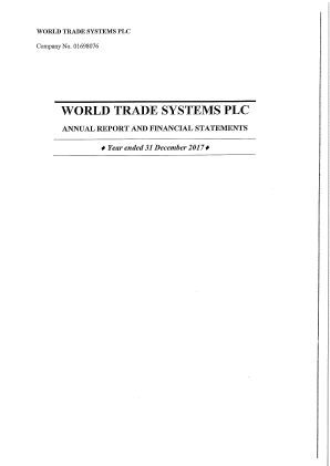 World Trade Systems annual report 2017