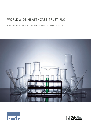 Worldwide Healthcare Trust Plc annual report 2013