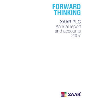 Xaar annual report 2007