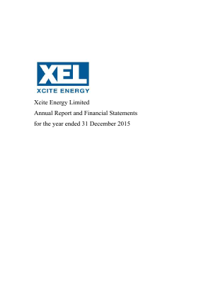 Xcite Energy annual report 2015