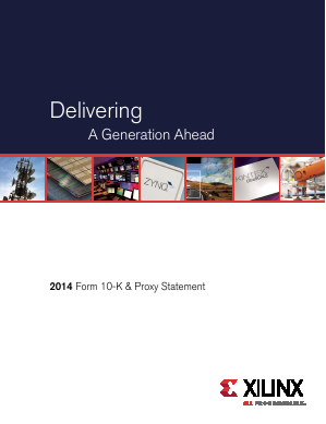 Xilinx Inc. annual report 2014