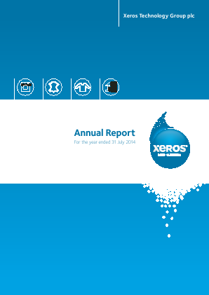 Xeros Technology Group Plc annual report 2014