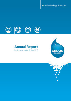 Xeros Technology Group Plc annual report 2015