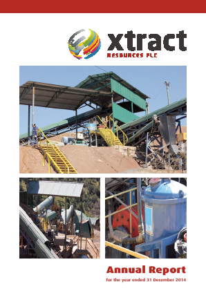 Xtract Resources Plc annual report 2014