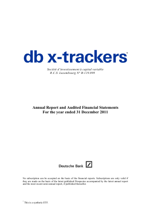 DB X-Trackers annual report 2011