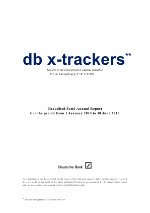 DB X-Trackers annual report 2015