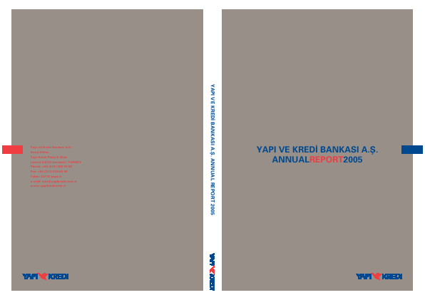 Yapi Ve Kredi Bankasi As annual report 2005