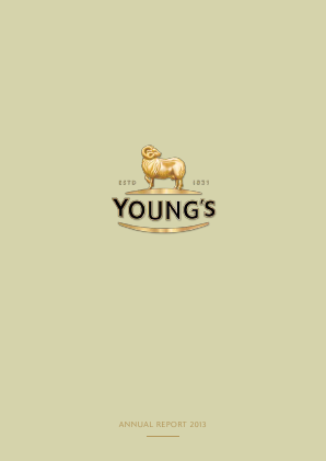 Young & Co's Brewery annual report 2013