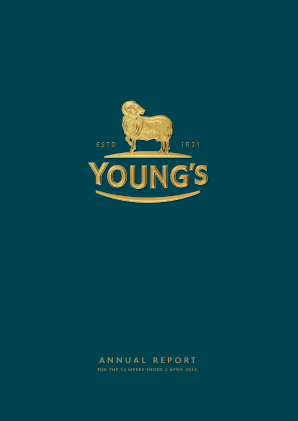 Young & Co's Brewery annual report 2018