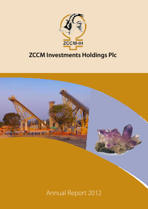 ZCCM Investments Holdings annual report 2012