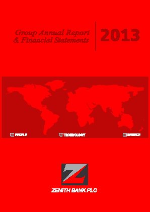 Zenith Bank annual report 2013