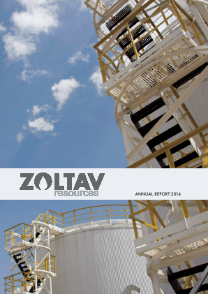 Zoltav Resources Inc annual report 2014