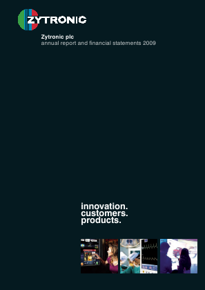 Zytronic annual report 2009