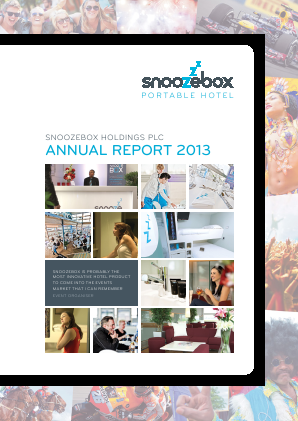 Snoozebox Holdings Plc annual report 2013